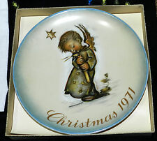 Berta Hummel 1971 Christmas Plate Limited 1st Edition IN BOX Schmid