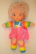"Vintage 1983 Pink Hair Baby Brite 15"" Rainbow Bright Plush Stuffed Doll Mattel"
