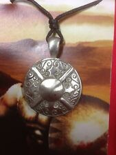 Greek Shield  Pewter  Pendant