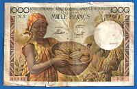 French Equatorial Africa 1000 Francs 1957 Emission France Equatoriale Cameroun
