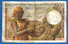 French Equatorial Africa 1000 Francs 1957 Emission France Equatoriale Cameroun