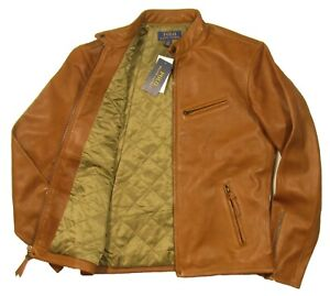 Polo Ralph Lauren Men's Brown Sheep Leather Full Zip Jacket