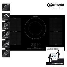 Arebos Kochfeld 4 Zonen mit Dual-Kochzone und Bräterzone Glaskeramik Sensor-Tou