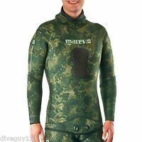 Mares Pure Instinct 5mm Wetsuit (Jacket Only)Camo Green Freediving Scuba Diving