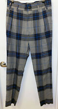 """Vivienne Westwood Men's Blue Tartan Pants - Size 50 (Waist = 35"""")"""