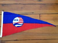 Vtg Booth/'s Gin Salutes Yachting Fraternity Nautical Maritime Nylon Flag Pennant