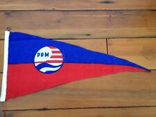 """Vintage PDM Red White Blue Nautical Sailing Signal Yachting Pennant Flag 23"""""""