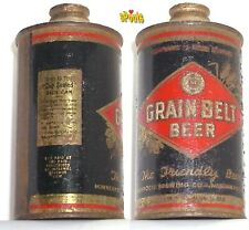 1936 Irtp Black Grain Belt Early Cone Top Beer Can Minneapolis,Minnesota Low Pro