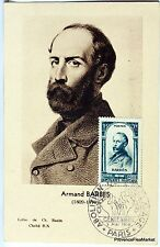 France Carte Maximum  1948 ARMAND BARBES    Yt 801