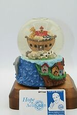 "Noah's Ark ""Talk To The Animals"" Water Globe Item #11438 w/ Swimming Dolphins"