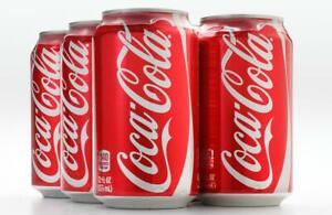 Coca Cola Classic 12 OZ (355ml)  4 Cans American  Cans