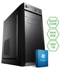PC DESKTOP COMPUTER COMPLETO | LICENZA WINDOWS 7 | QUAD-CORE | RAM 8GB | HD 1TB