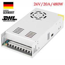 Schaltnetzteil Adapter DC 24V 20A 480W Netzteil Trafo DIY LED Strip Power Supply