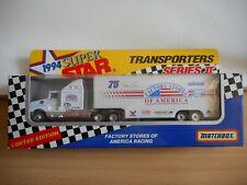 Matchbox 1994 SUper Star Transporters Seres II America Racing in WHite in Box