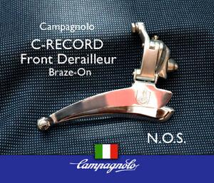 "Campagnolo Vintage ""C-Record"" Front Derailleur, Braze-on, NOS, Free ShippingVint"