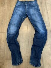 G-Star CHINO ARC LOOSE TAPERED Twisted Distressed Mens Blue Jeans Size W31 L36