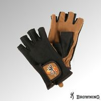Browning Gloves Mesh Back Shooting Fingerless Mittens - Black/Tan (30789931xx)