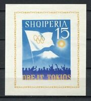 27135) Albania 1964 MNH New Olympic G. Tokyo S/S Imperforated