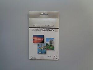 "Photo Paper Matt (4"" x 6"") 20 Sheets  New - Free P&P"
