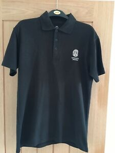Volkswagen VW Commercials CV Polo Shirt S Black Worn Washed Clean Few Marks