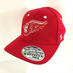 Detroit Red Wings Unisex Kids Youth Hat Cap NHL Zephyr One Size Red