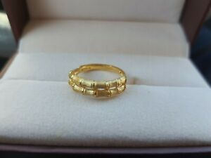 Mother day best gift 24k real gold ring adjustable size Brand New never used