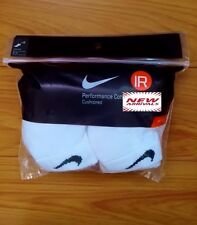 NIKE MEN'S WHITE CUSHIONED LOW CUT SOCKS - L (Shoe Size 8-12) - 6 PAIRS/PACK