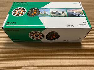 """NEW PAIR KICKER 45KM84L 8"""" FULL RANGE MARINE SPEAKERS W/ LED lighting"""