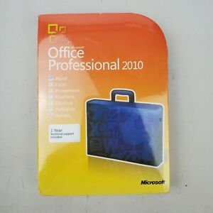 New Sealed Microsoft Office Professional 2010 Word Excel PowerPoint OneNote