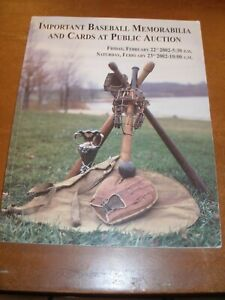 February 2002 Hunt Auctions Important BB Memorabilia and Cards Auction Catalog