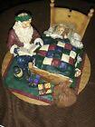 Vintage Santa Reading Bedtime Story To Lil Girl Christmas 1997 Cpca97 2978/4000