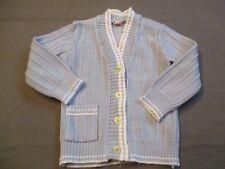 Gilet Bébé Cardigan Bleu ciel 3 à 6 mois  Layette  Vintage
