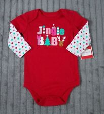 "Christmas One Piece Outfit Girl's Newborn ""Jingle Baby"" **NEW**"