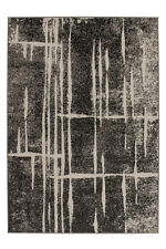 Angebot Trendiger Kurzflor Teppich Designer Teppiche Grau Elfenbein 120x170 cm