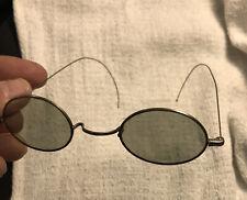 VTG 1930s Or 40's Wire Frame Tinted Lenses Sun Glasses Steampunk John Lennon