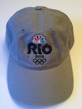 NBC Sports 2016 Olympics Rio Gray Hat Cap One Size Fits Most USA Team Apparel