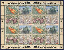 UN NEW YORK . 1996 Endangered Species . Complete Sheet .  Mint Never Hinged