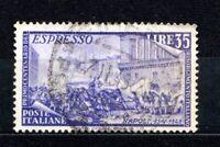 ITALIA REPUBBLICA 1949 RISORGIMENTO ESPRESSO 35 LIRE