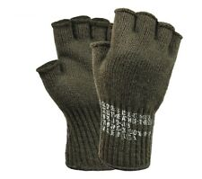 8410 Rothco Olive Drab G I Military Fingerless Wool Gloves Made in USA