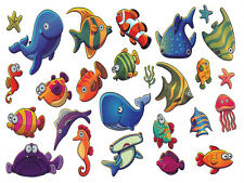 Waterproof Temporary Fake Tattoo Stickers Ocean Fish Dolphin Jellyfish Kid Child