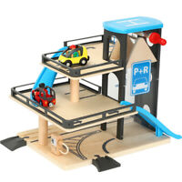 Car Track Lifts Wooden Track Parking Compatible with Brio Wooden Train Trac H8Y9