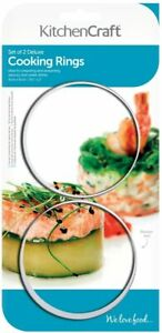 KitchenCraft Cooking Rings, Extra Deep Moulds for Rice and Potato Stacks, Cheese