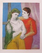 Pablo Picasso THE LOVERS CLOTHED Estate Signed Limited Edition Art Giclee