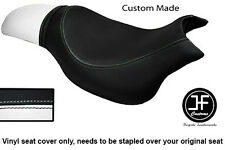 BLACK & WHITE VINYL CUSTOM FITS HYOSUNG GV 650 AQUILA 04-11 DUAL SEAT COVER ONLY
