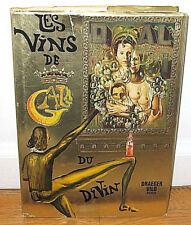 Salvador Dali Les Vins de Gala Wine Guide 1977 HC DJ 1st French ED Surrealist