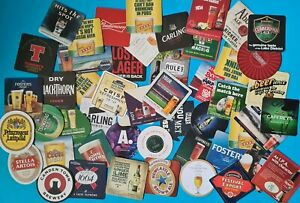 Assorted Beer Mats Set of 50 Various Different Designs