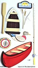 EK SUCCESS JOLEE'S 3-D STICKERS - DUCKS ROWING BOAT FISHING - A DAY AT THE LAKE