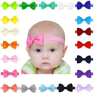 Newborn Baby Girl Big Bow Headband Headbands Infant Girls Elastic Knot Hair Band
