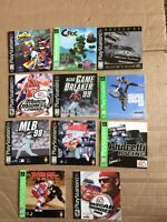 Lot Of 11 Sony Playstation PS1 Games Manuals ONLY Limited Editions