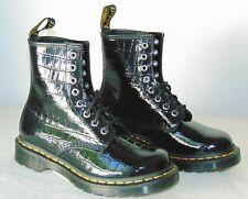 Dr. Martens 1460 Faux-Croc Embossed Combat Boot  Color: Black  Size US 5